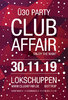 Vorverkauf-Ticket - clubaffair - 30.11.2019 - Lokschuppen Bottrop